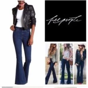 free people high rise flare jeans 25